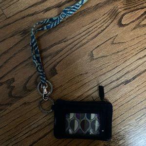 Vera Bradley wallet and lanyard